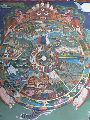 300px-The_wheel_of_life,_Trongsa_dzong